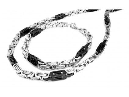 souprava - řetízek a náramek - chirurgická ocel - 140309