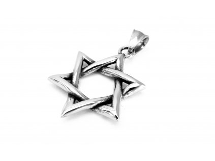 přívěsek - chirurgická ocel - pentagram - 090456