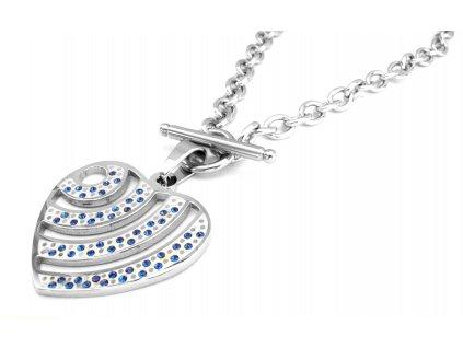 náhrdelník - chirurgická ocel - srdce - 150101