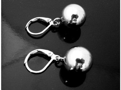 náušnice - chirurgická ocel - koule - 10 mm - 111113