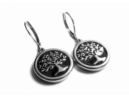 náušnice - chirurgická ocel - strom života - 090310