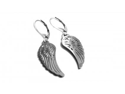 náušnice - chirurgická ocel - andělská křídla - 090407