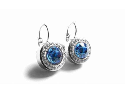 náušnice - chirurgická ocel - modré - 090486