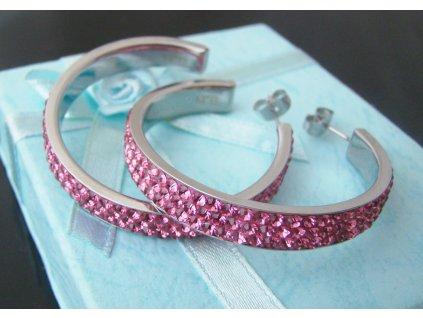 náušnice - chirurgická ocel - kruhy - 130206