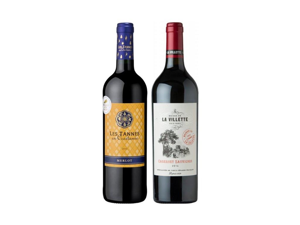 Porovnejte si francouzský Cabernet Sauvignon a Merlot