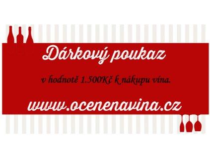 Dárkový poukaz na víno 1500Kč OceněnáVína CZ