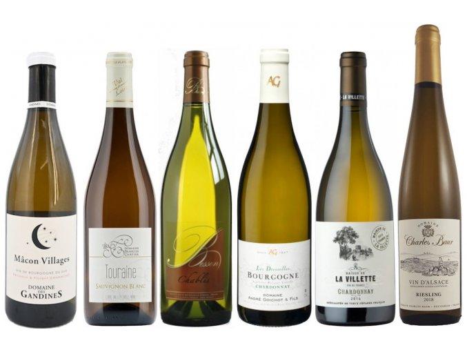 kvalitní víno CESTA PO FRANCII bílá NEJZNÁMĚJŠÍ FRANCOUZSKÉ ODRŮDY od oceněnávínaCZ