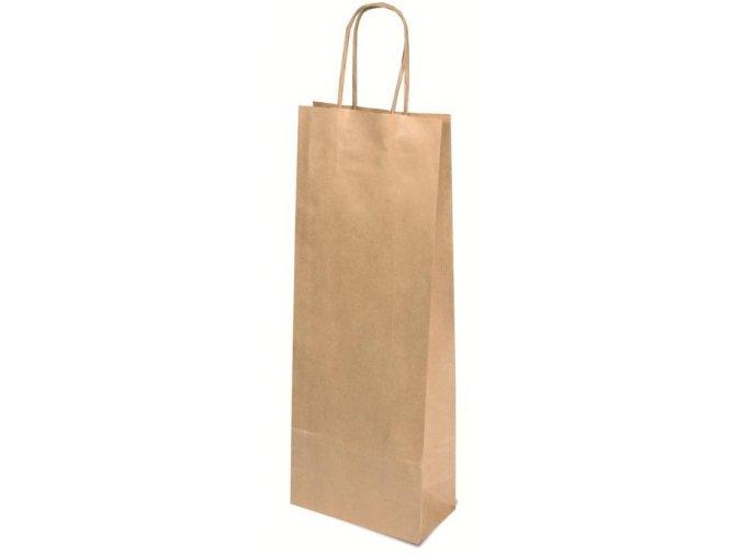 Papírová taška na víno přírodní