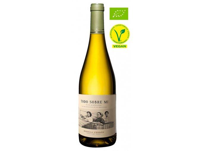 BIO Chardonnay Todo Sobre Mi 2017, Bodega Cerrón, Jumilla