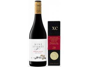 kvalitní víno Nine stones shiraz barossa a čokoláda na párování s vínem od OCENĚNÁVÍNAcz