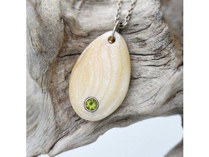 Amulet s olivínem