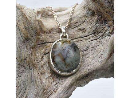 Amulet s mechovým achátem