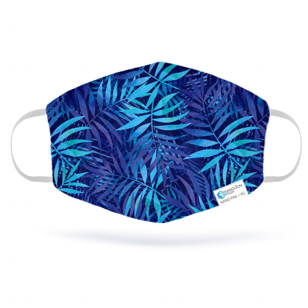 blue tropical leaves