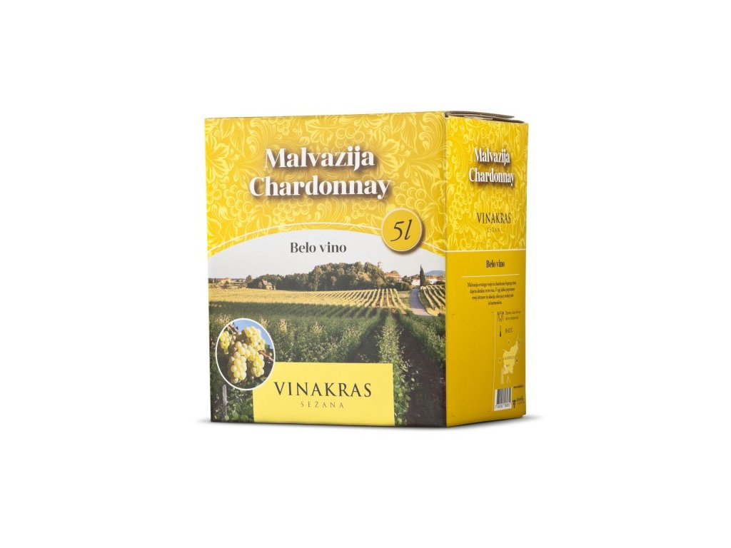 VinaKras - Bag in Box 5l - Chardonnay, Malvazija
