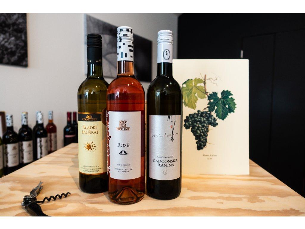 Balíček: 3 x svěží vína ze 3 slovinských regionů