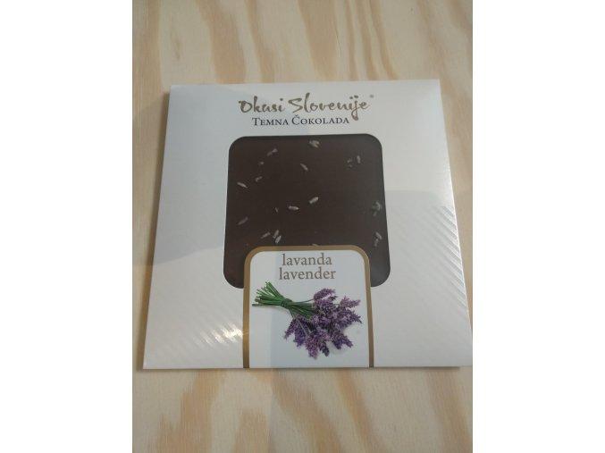 Hořká čokoláda s levandulí 90g