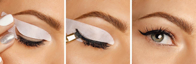 Návod jak si namalovat oční linky pomocí šablony