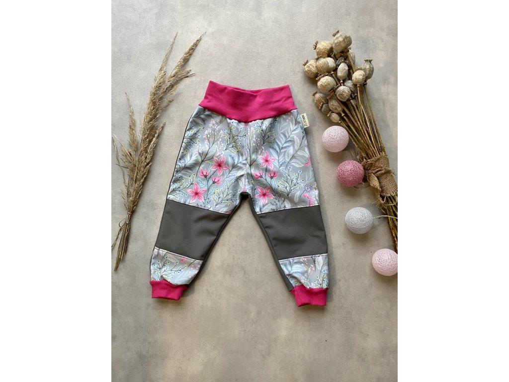 Softshellove kalhoty- varianta předek celopotisk