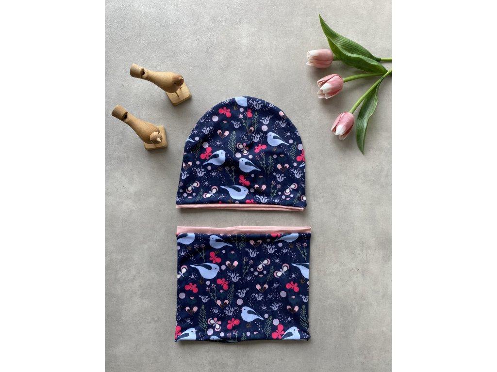 Jarní čepice a nákrčník
