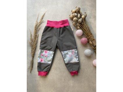 Softshellové kalhoty - varianta potištěná kolena