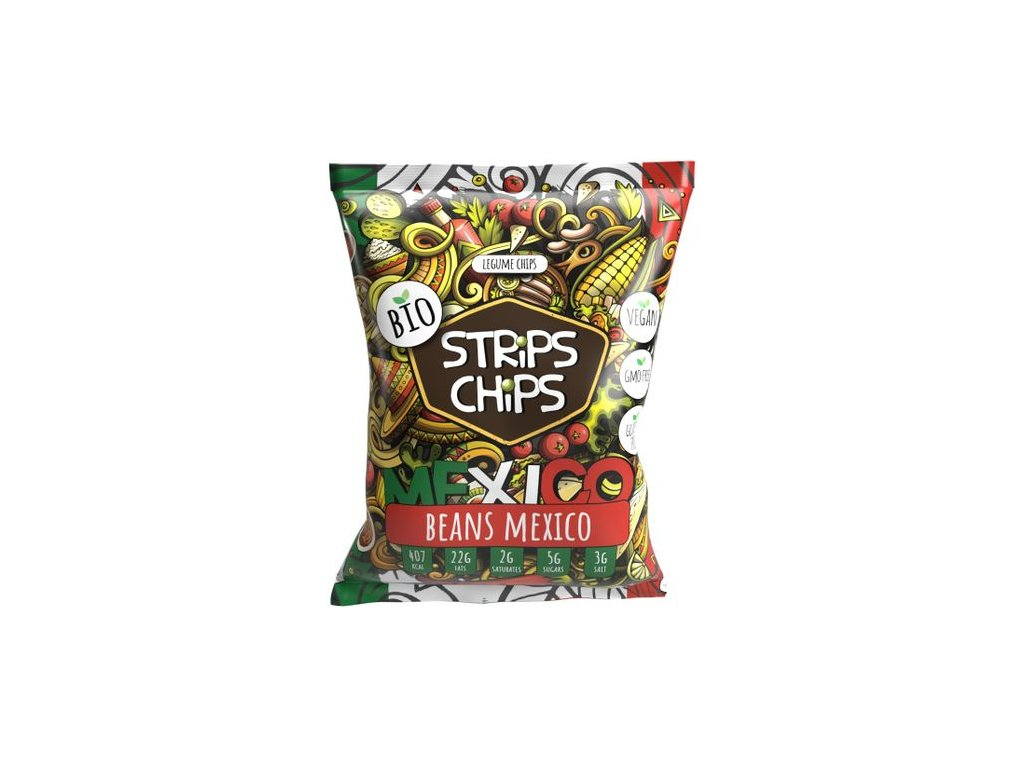 strips chips beans mexico bio