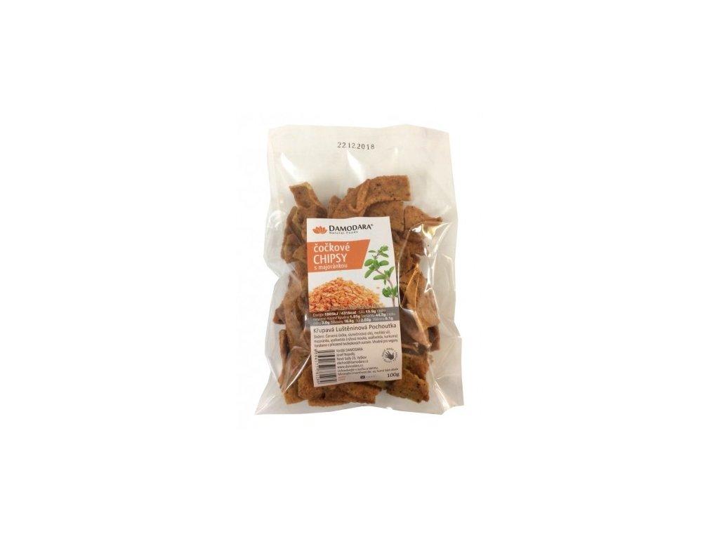 chipsy sosovicove s majorankou 100g damodara