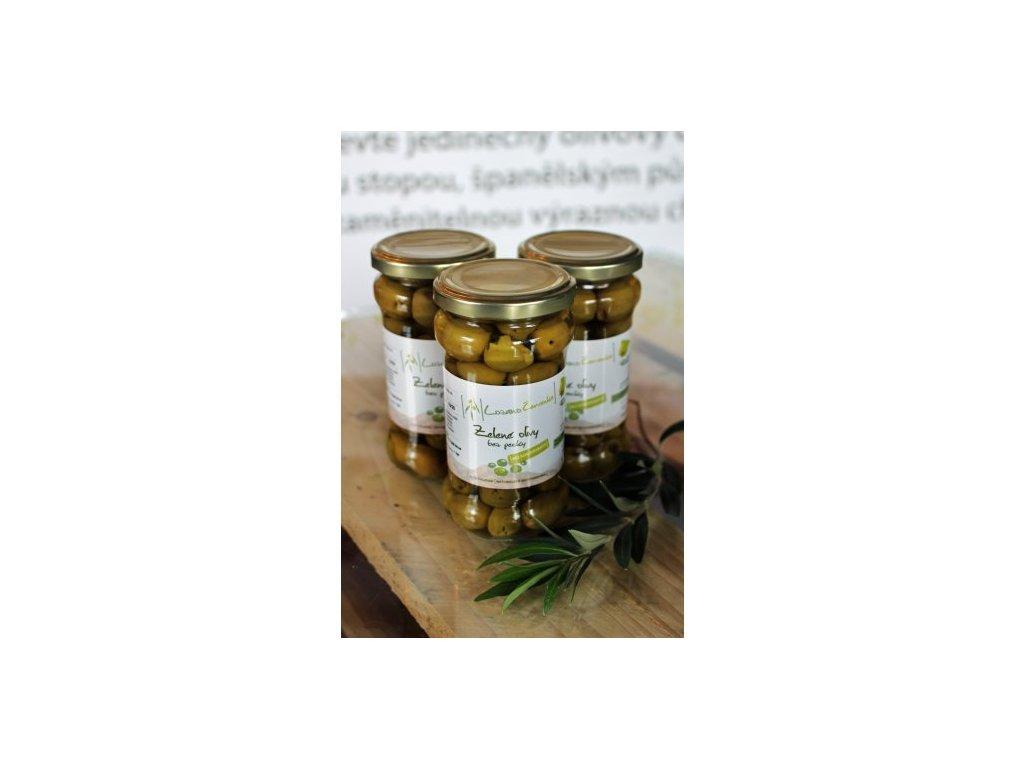 1724 zelene olivy bez pecky 145 g