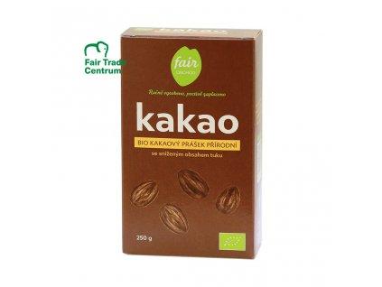 2538 fair trade bio kakaovy prasek prirodni snizeny obsah tuku 250 g