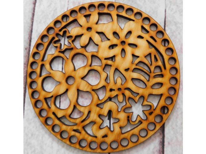 dno k háčkování květy v kruhu