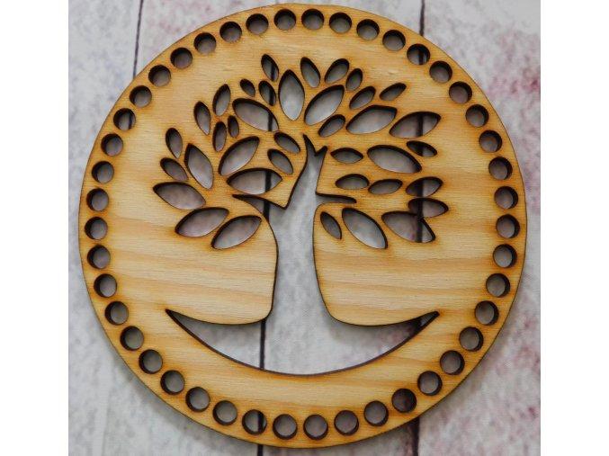 dno k háčkování kruh strom 1