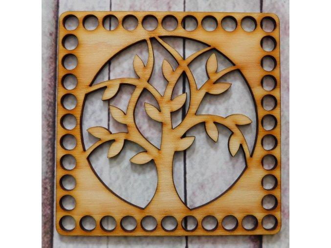 víko čtverec strom 1