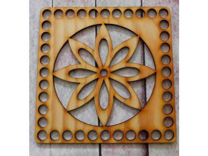 dno k háčkování čtverec květ 1