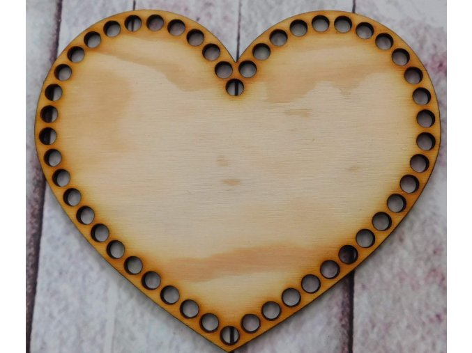 dno srdce 18cm prázdné