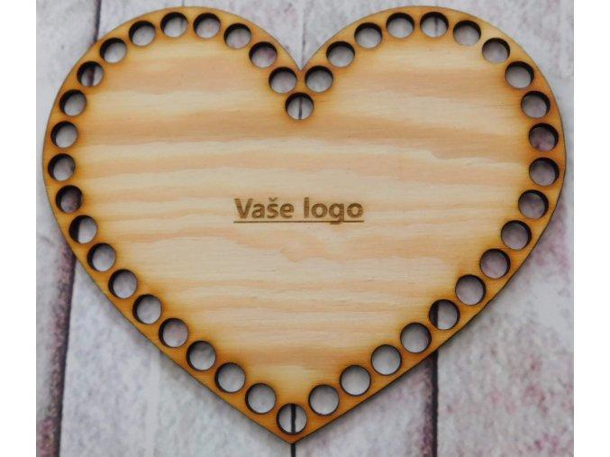 dno srdce 20cm vaše logo