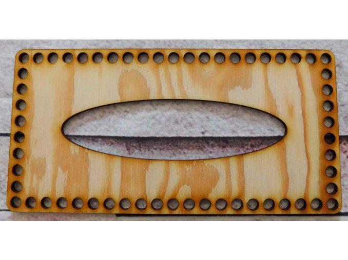 Víko na kapesníky 23x11 cm
