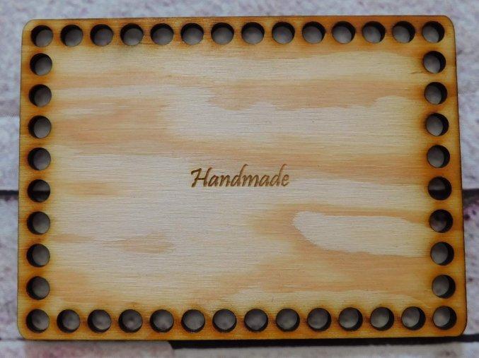 dno k háčkování obdélník 15x10 cm handmade