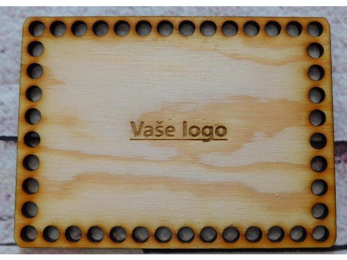 dno k háčkování obdélník 15x10 cm vaše logo