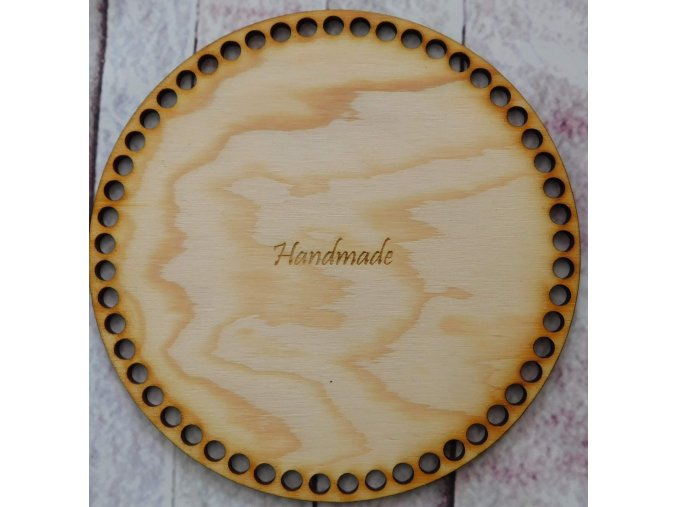 dno k háčkování kruh 18 cm nápis handmade