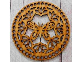 víko kruh motýl