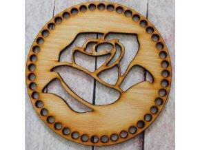 víko kruh růže