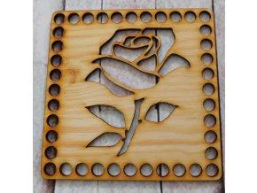 dno k háčkování čtverec růže