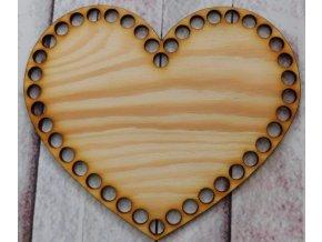 dno srdce 20cm prázdné