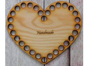 dno srdce 15cm handmade
