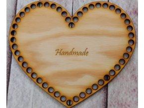dno srdce 18cm handmade
