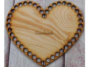 dno srdce 20cm handmade