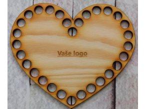 dno srdce 15cm vaše logo