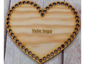 dno srdce 18cm vaše logo