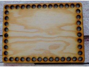 dno k háčkování obdelník 10x15 cm