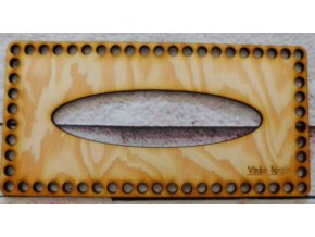 Víko na kapesníky 23x11 cm vaše logo