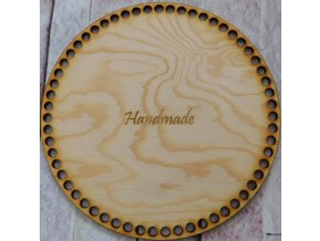 dno k háčkování kruh 20 cm nápis handmade